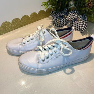 Tommy Hilfiger White Canvas Sneakers